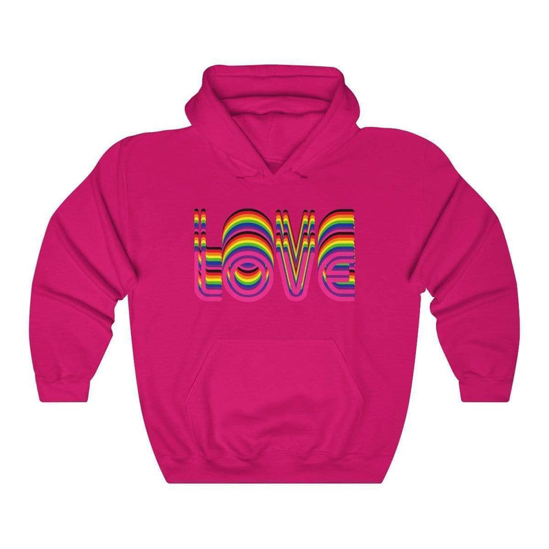 Printify Hoodie Heliconia / S The Love Vibe Hoodie 812162412