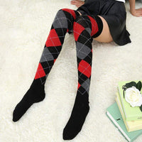 So Kawaii Shop Kawaii Argyle Thigh High Stockings