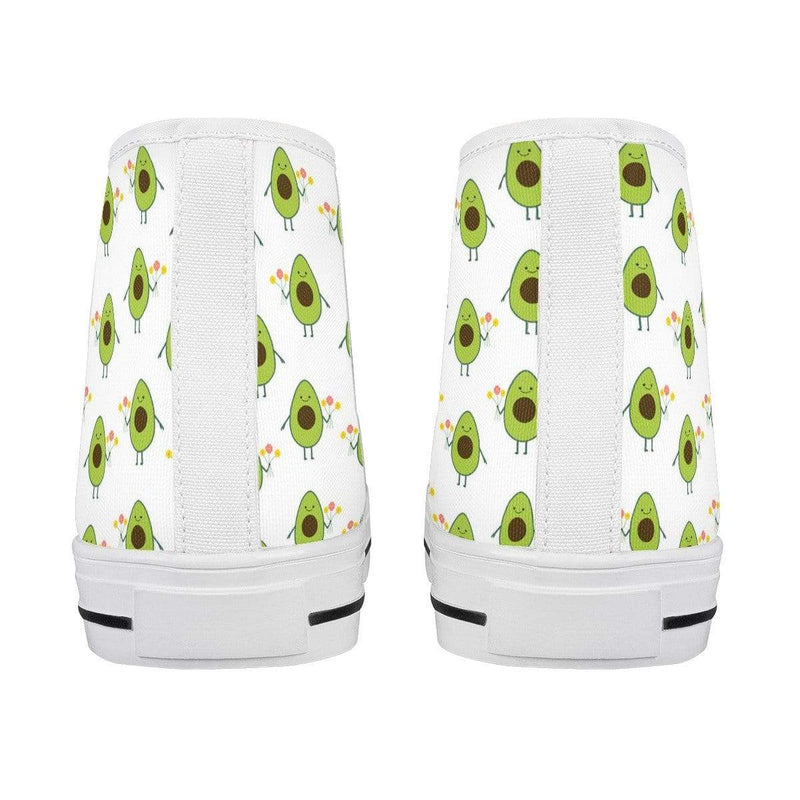 So Kawaii Shop kawaii avocados high top white all ambitions White High Top Canvas Shoes