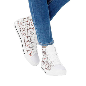 So Kawaii Shop Kawaii clouds white high all ambitions White High Top Canvas Shoes