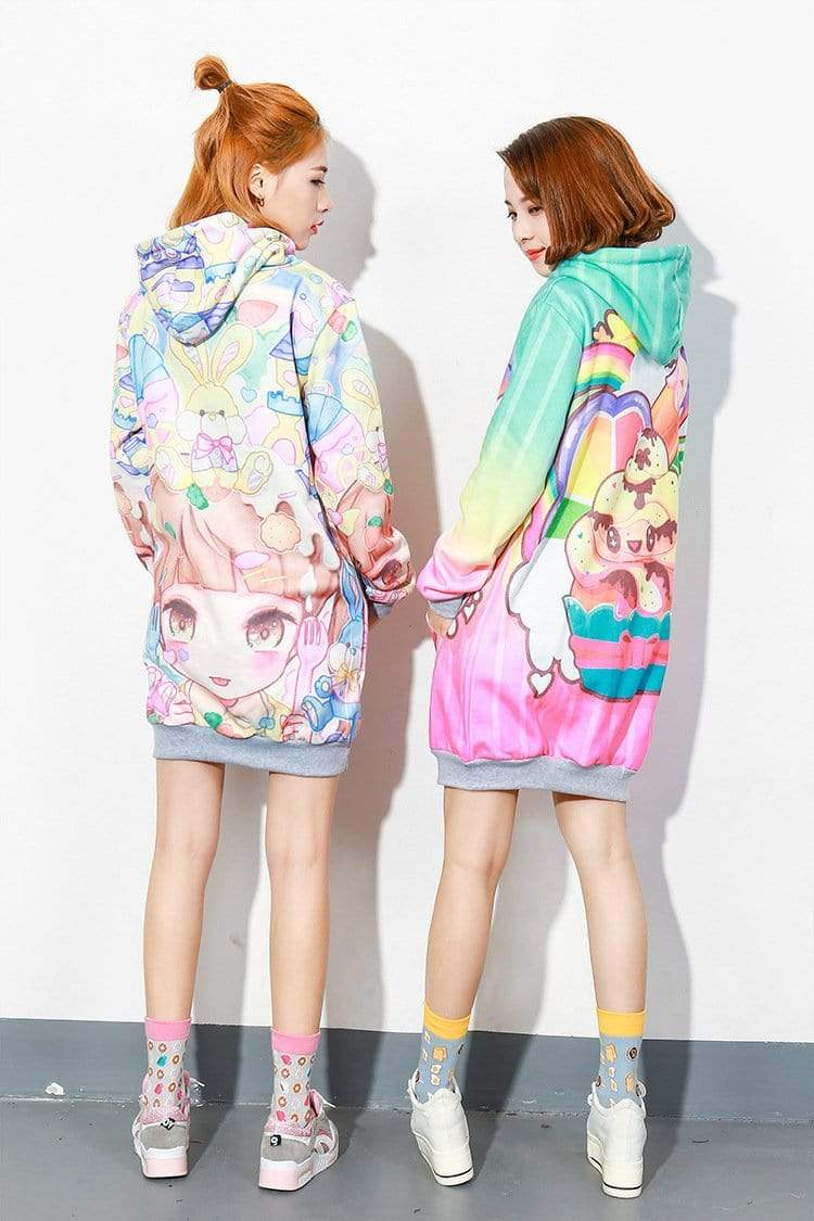So Kawaii Shop Kawaii Fleece Harajuku Style Hoodies