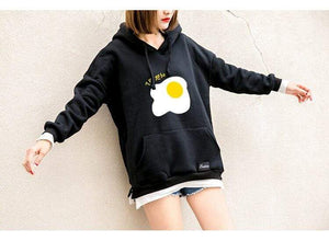 So Kawaii Shop Kawaii Fried Egg Hoodie Sweatshirt