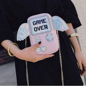 "So Kawaii Shop The ""Game Over"" Messenger Bag 6259592-pink"