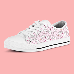So Kawaii Shop Kawaii Goth Bunny Pink Stripes Low Sneaker