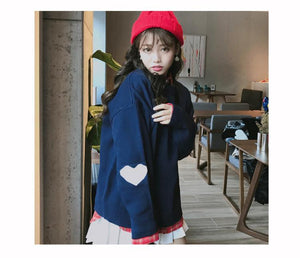 So Kawaii Shop Kawaii Harajuku Love Heart Pullover Sweater