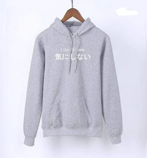 So Kawaii Shop Kawaii Japanese Hoodie I Don't Care