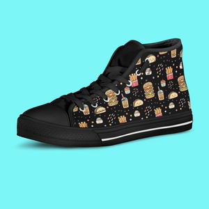 So Kawaii Shop Kawaii Junk Food Black High Top Sneaker