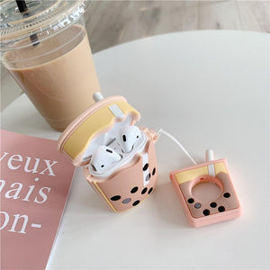 So Kawaii Shop Kawaii Milk Boba Tea Headphones Case