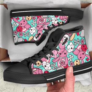 So Kawaii Shop Kawaii Pastel Goth Bunny Blue High Sneaker