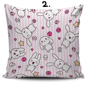 So Kawaii Shop Kawaii Pastel Goth Bunny Cushion 2 Kawaii Pastel Goth Bunny Cushion Series PP.12257769