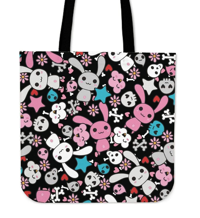 So Kawaii Shop Kawaii Pastel Goth Bunny Tote Black/Blue Kawaii Pastel Goth Bunny Tote Bag PP.12301719