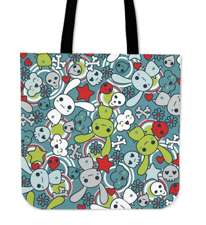 So Kawaii Shop Kawaii Pastel Goth Bunny Tote Blue/Green Kawaii Pastel Goth Bunny Tote Bag PP.12301717