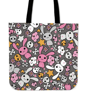 So Kawaii Shop Kawaii Pastel Goth Bunny Tote Grey Kawaii Pastel Goth Bunny Tote Bag PP.12301716