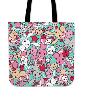 So Kawaii Shop Kawaii Pastel Goth Bunny Tote Mid Blue Kawaii Pastel Goth Bunny Tote Bag PP.12301720