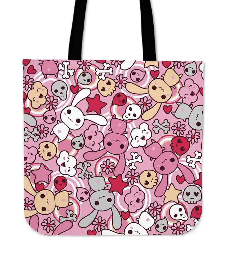 So Kawaii Shop Kawaii Pastel Goth Bunny Tote Pink Kawaii Pastel Goth Bunny Tote Bag PP.12301718