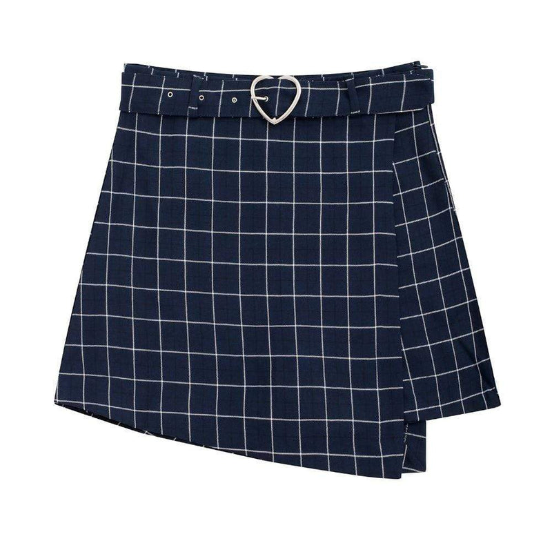 So Kawaii Shop Kawaii Plaid A-line Skort
