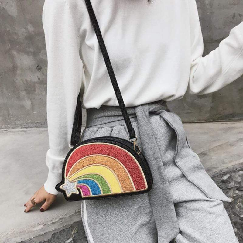 So Kawaii Shop The Kawaii Rainbow Glitter Clutch Handbag