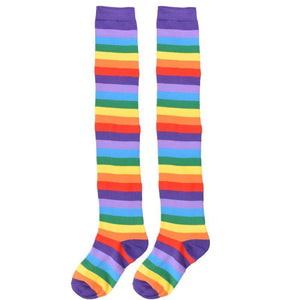So Kawaii Shop Kawaii Rainbow Stripes Over The Knee Socks