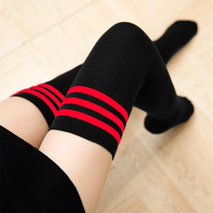 So Kawaii Shop Kawaii Stripe Thigh High Stockings