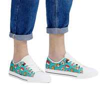 So Kawaii Shop Kawaii Sushi low White Low Top Canvas Shoes