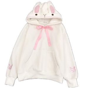 So Kawaii Shop Kawaii Sweet Rabbit Ears Hooded Sweatshirt