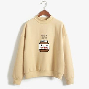 So Kawaii Shop khaki / XL You Are My Nutella Kawaii Sweatshirt 16200743-khaki-xl