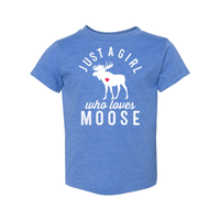 Print Melon Inc. Kids/Babies 2T / Heather Columbia Blue moose toddler 442692