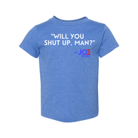 Print Melon Inc. Kids/Babies 2T / Heather Columbia Blue will you shut up toddler 327962