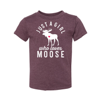 Print Melon Inc. Kids/Babies 2T / Heather Maroon moose toddler 442686