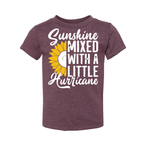 Print Melon Inc. Kids/Babies 2T / Heather Maroon sunshine hurricane toddler 356139