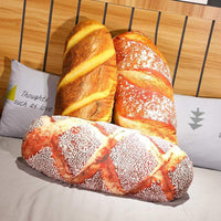 So Kawaii Shop Long Butter Bread Meat floss Sesame Pizza Beefsteak Pillows Food Plush Pillow Simulated Snack Decoration Backrest Cushion