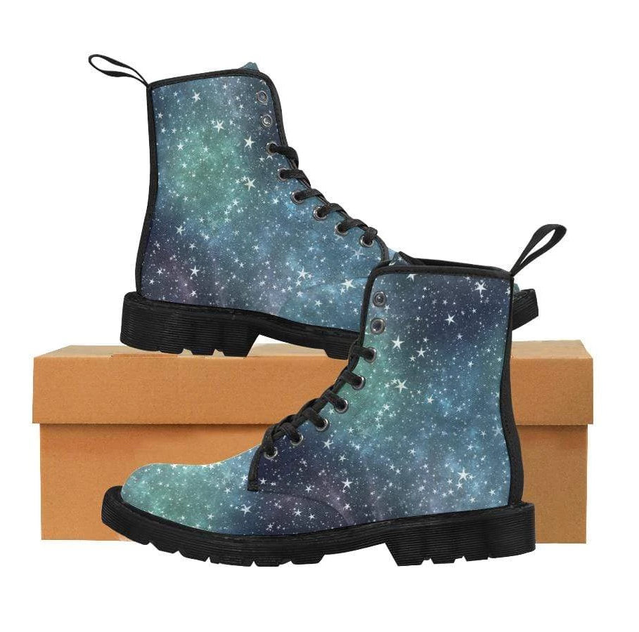 e-joyer Martin Boots for Women (Black) (1203H) The Kawaii Galaxy Black Martin Boots