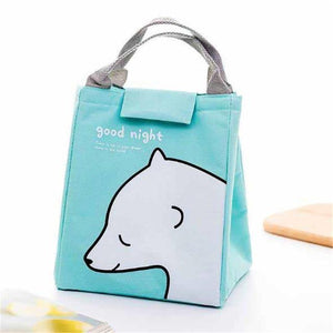 So Kawaii Shop Mint Green Polar Bear Kawaii Insulated Lunch Bag 26996903-army-green