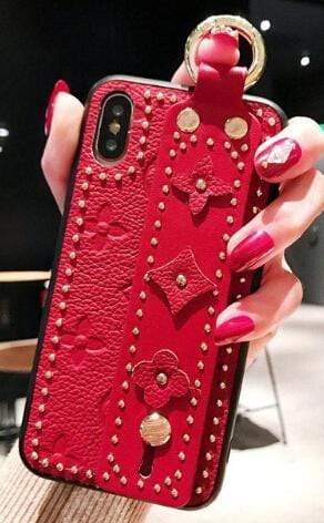 Dhgate Monogram Stamp w/Strap Red / iPhone 6 Plus Kawaii Luxe Cases For iPhone 10001-NO3-IPHONE6PLUS