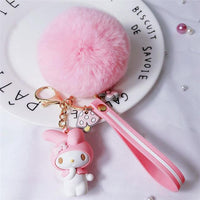 So Kawaii Shop My Melody Pink Pom Kawaii Sanrio Pom Pom Charmy Keychain 30755825-zz-08