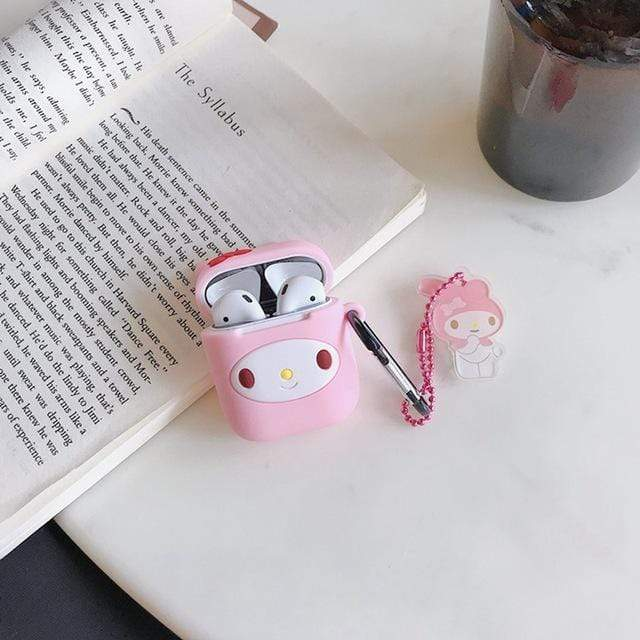 So Kawaii Shop My Melody w Pendant For AirPods Case Cute Cinnamoroll Melody Kuromi Purin Frog Earphone Cases For Apple Airpods Protect Cover with Cartoon Pendant 26675363-melody-pendant