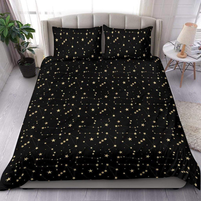 So Kawaii Shop Mystic Dark Skies Constellations Bedding Set
