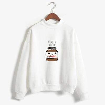 So Kawaii Shop navy / XL You Are My Nutella Kawaii Sweatshirt 16200743-navy-xl