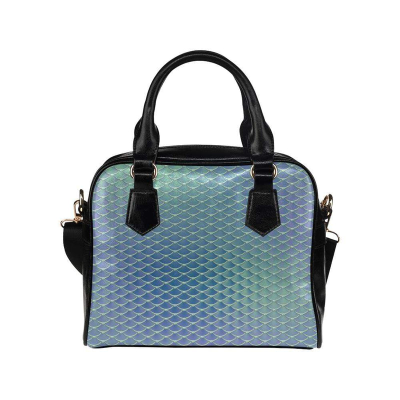 e-joyer One size / Aqua Silver Mermaid Scales Handbag Shoulder Handbag (Model 1634) Kawaii Iridescent Mermaid Scales Handbag D3841550