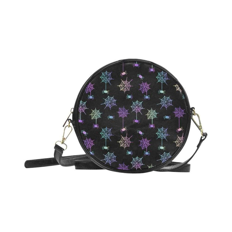 e-joyer One Size / black spiderwebs Round Sling Bag (Model 1647) Round Sling Bag Spiderwebs D3954292