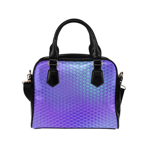 e-joyer One size / Blue Iridescent Mermaid Scales Handbag Shoulder Handbag (Model 1634) Kawaii Iridescent Mermaid Scales Handbag D3841456