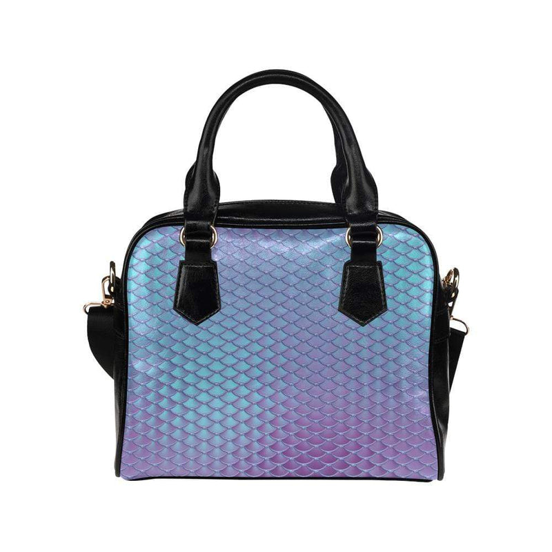e-joyer One size / Blue Violet Mermaid Scales Handbag Shoulder Handbag (Model 1634) Kawaii Iridescent Mermaid Scales Handbag D3841540