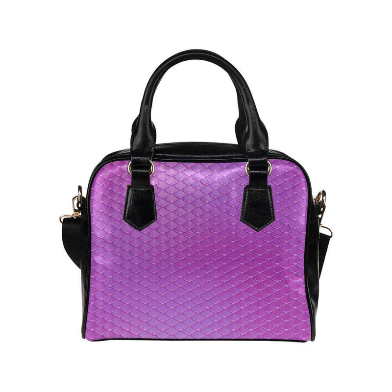e-joyer One size / Fuschia Mermaid Scales Handbag Shoulder Handbag (Model 1634) Kawaii Iridescent Mermaid Scales Handbag D3841532