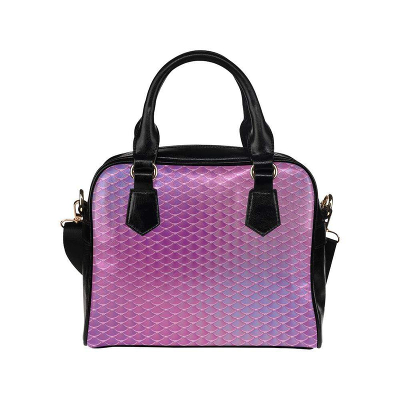 e-joyer One size / Pink Iridescent Mermaid Scales Shoulder Handbag (Model 1634) Kawaii Iridescent Mermaid Scales Handbag D3841471
