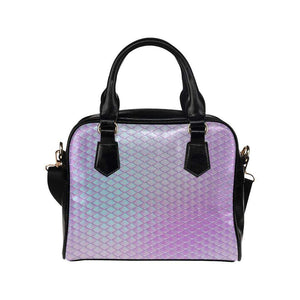 e-joyer One size / Pink Silver Mermaid Scales Handbag Shoulder Handbag (Model 1634) Kawaii Iridescent Mermaid Scales Handbag D3841548