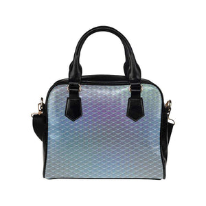 e-joyer One size / Silver Blue Iridescent Mermaid Scales Handbag Shoulder Handbag (Model 1634) Kawaii Iridescent Mermaid Scales Handbag D3841480