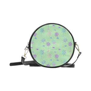 e-joyer One Size / Spiderwebs mint green Round Sling Bag (Model 1647) Round Sling Bag Spiderwebs D3955284
