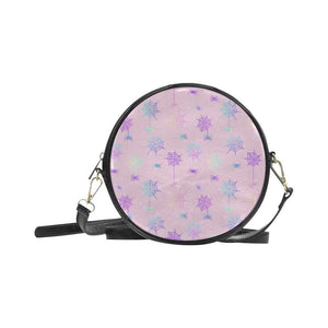 e-joyer One Size / spiderwebs pink Round Sling Bag (Model 1647) Round Sling Bag Spiderwebs D4028922