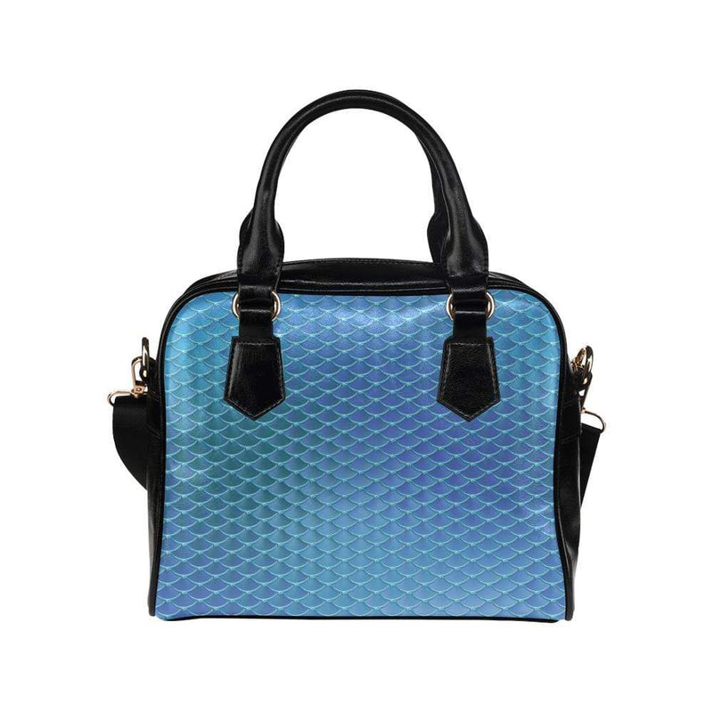 e-joyer One size / Teal Mermaid Scales Handbag Shoulder Handbag (Model 1634) Kawaii Iridescent Mermaid Scales Handbag D3841530