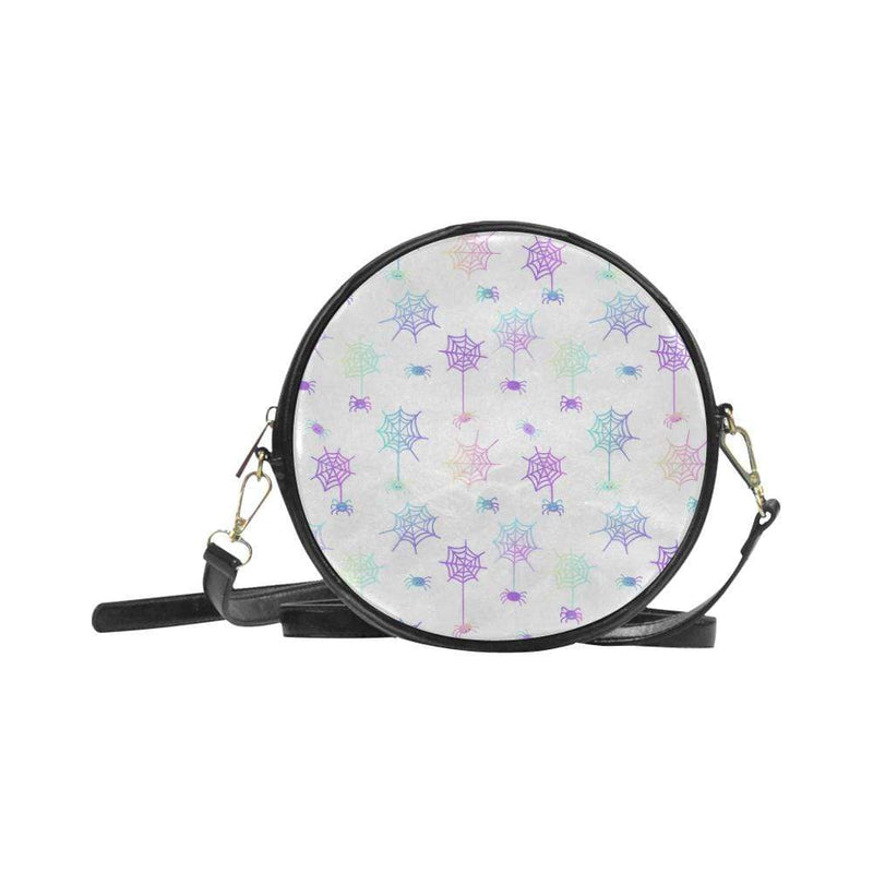 e-joyer One Size / white spiderwebs Round Sling Bag (Model 1647) Round Sling Bag Spiderwebs D4028916